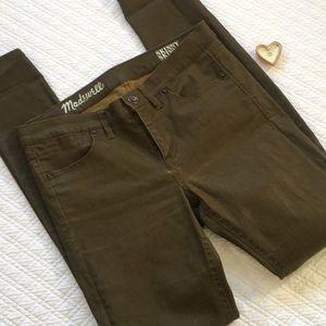 Madewell Skinny Skinny Kaki Jean